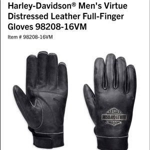 Harley-Davidson men's leather gloves size XL